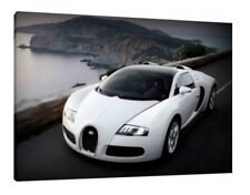 Bugatti Veyron 30x20 Inch Canvas Art Work - Framed Picture Print Supercar
