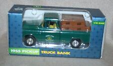 Ertl Diecast John Deere 1955 Pickup Truck Bank 1/25 Scale