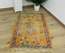 Vintage-Authentic Woolen AZILAL rug Berber -Moroccan Rug /Teppich   3'11''/2'3''
