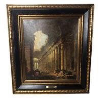 "20""x22"" Old Temple Framed Art Print by Hubert Robert Vintage Turner Wall Hamg"
