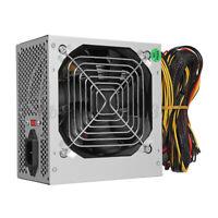 500W 24-PIN Power Supply Quiet ATX1SATA PC Computer Gaming PSU PFC