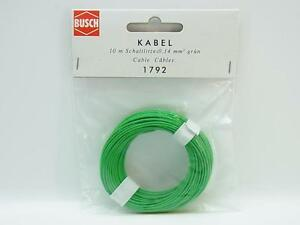 Lot 16688 Busch 1792 Cable 10 M Stranded Wire 0,14 MM ² Green New Boxed