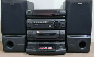 SONY COMPACT HIFI STEREO SYSTEM AM FM RADIO CASSETTE COMPACT DISC HCD-XB4