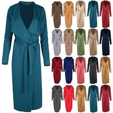 Womens Waterfall Italian Cape Ladies Tie Belt Cardigan Maxi Duster Trench Coat