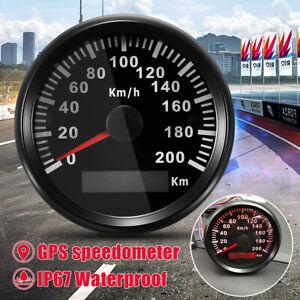 200KM/H Car Motor Motorcycle GPS Speedometer Waterproof Digital Display Gauges
