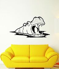 Wall Stickers Vinyl Decal Hippo Animal Nursery Africa For Kids Room (ig1639)