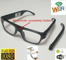 Live Streaming WIFI Hidden Glasses Camera Spy Glasses with Video Recorder HD1080