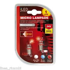 98324  24V Micro lampada 1 Led - (T4W) - BA9s - 2 pz - D/Blister - Rosso