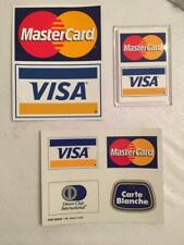 Visa MasterCard Diners Club Carte Blanche 1999 Retail Stickers Decals byGb Frank