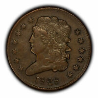 1828 1/2c Classic Head Half Cent - XF Original Coin - SKU-Y3280