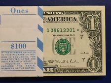 1995 STAR NOTE $1 Dollar Bills ,Chicago G ,Uncirculated ,Consecutive,low number