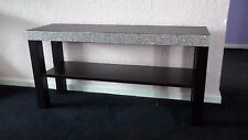 Lifesize Black Wooden Side Table/Coffee Table T.V stand diamante bling