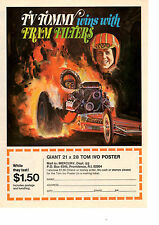 1971 TOP FUEL DRAG RACING / TV TOMMY IVO  ~   ORIGINAL FRAM FILTER AD