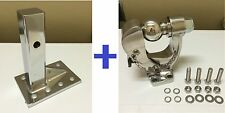"5 Ton STAINLESS STEEL 304 PINTLE 2 5/16"" BALL TOW HITCH + Stainless Adjust Plate"