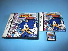 Sonic Rush Nintendo DS Lite DSi XL 3DS 2DS w/Case & Manual
