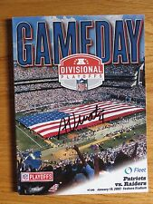 ADAM VINATIERI NEW ENGLAND PATRIOTS signed SNOW GAME Program vs OAKLAND RAIDERS