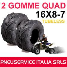 2 PNEUMATICI GOMME RUOTE 16X8-7 28F QUAD MINI QUAD ATV 4PR RINFORZATO 16 8 7