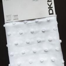 """DKNY Poppy WHITE Sheer (2) WINDOW PANELS CURTAINS Drapes 50x96"""" Rod Pocket NEW"""