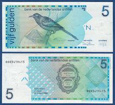 NETHERLANDS ANTILLES  5 Gulden 1986  UNC  P.22 a