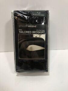 """NEW Smoothweave Size Full Black 18-Inch Tailored Bed Skirt Bedskirt 54"""" x 75"""""""