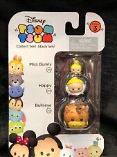 Disney Tsum Tsum 3 pack Series 3 Bullseye Happy Miss Bunny New In Package