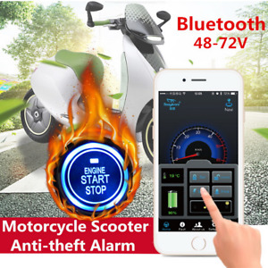 Motorcycle Anti-theft Security Alarm System Keyless Engine Start Remote Control