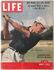 Rare BEN HOGAN Signed August 8, 1955 LIFE MAGAZINE - JSA LOA