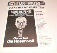 FILM,KINO,WERBERATSCHLAG ,OSCAR HAT DIE HOSEN VOLL,FOX-MGM,LOUIS DE FUNES