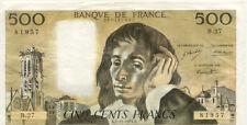 BILLET BANQUE 500 Frs PASCAL 02-12-1971 B B.27 TTB 957