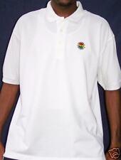 Ghana Flag Burst White Polo Shirt  L, XL & 2XL