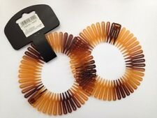 FLEXICOMBS 2 PACK SPORTS HAIR BAND HEADBAND COMB TORTOISE FLEXI COMB