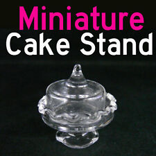 Dollhouse Miniature Glass Cake Cheese Stand Display for doll house Dining deco