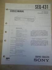 Sony Service Manual~SEQ-431 Graphic Equalizer~Original~Repair
