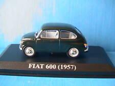 Fiat 600 1957 ixo altaya green 1/43 green grun verde