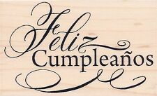 Feliz Cumpleanos  M289  Stampendous RUBBER STAMP  w/m  Free Shipping  NEW
