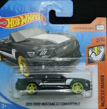 Hot Wheels 2015 Ford Mustang GT Convertible negro Muscle Mania 2/10 2018