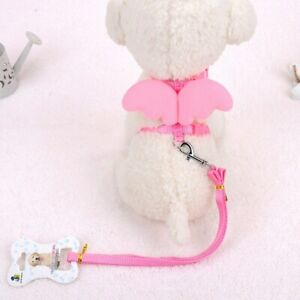 Adjustable New Cute Angel Wings Pet Dog Harness Puppies Cat Leashes Small Dog