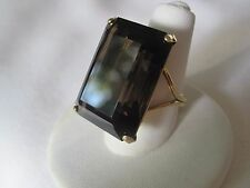 Stunning Estate Smokey Topaz Cocktail Ring in Gold-Filled Setting, Size 6
