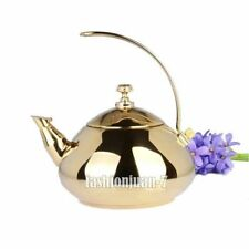 Luxury 1.5L Gold/Silver Stainless Steel Water Kettles Tea Coffee Kettle TEAPOT