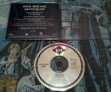 KOOL MOE DEE - DEATH BLOW U.S. PROMO CD-SINGLE 1991 2 TRKS RARE HTF OOP