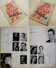 1959 Opera SIGNED AUTOGRAH PROGRAM Verdi FALSTAFF Zeffirelli GIULINI Corena