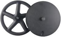 Front Five Spoke Rear Disc Track Wheels Time Trial/Triathlon Carbon Wheelseet