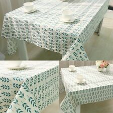 Tablecloth Cotton Linen Leaf Printed Rectangular Table Cloth Cover Wedding Party