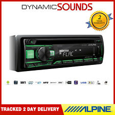 ALPINE CDE-201R Car CD MP3 Android Stereo USB Aux In Receiver - Red & Green