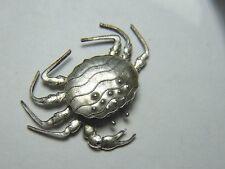kleine Tierfigur Figur Krabbe Metall versilbert sehr filigran 46 x 36 mm / 6,5g