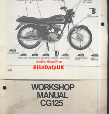 Honda CG125 (1985-1988) Official Factory Shop Manual CG 125 BR 12v Brazil CT19