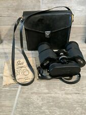 Vintage Sears Binoculars 10 x 50 MM Model # 2529 Japan With Leather Case