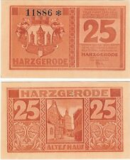 Germany 25 Pfennig 1921 Notgeld Harzgerode UNC Uncirculated Banknote