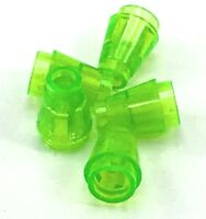 Lego 5 New Trans Bright Green Cone 1 x 1 Top Groove Pieces