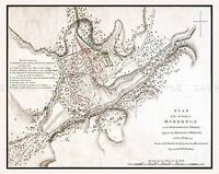 MAP ANTIQUE MILITARY 1777 BATTLE HUBBARDTON VERMONT REPLICA POSTER PRINT PAM2048
